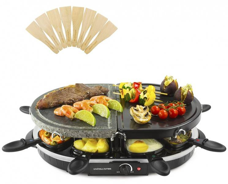 Gratar electric Traditional si cu Piatra Andrew James  Raclette AJ0001471